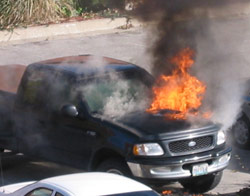 ford 150 fire